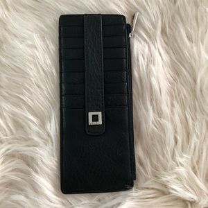 Lodis black leather rfid credit card wallet